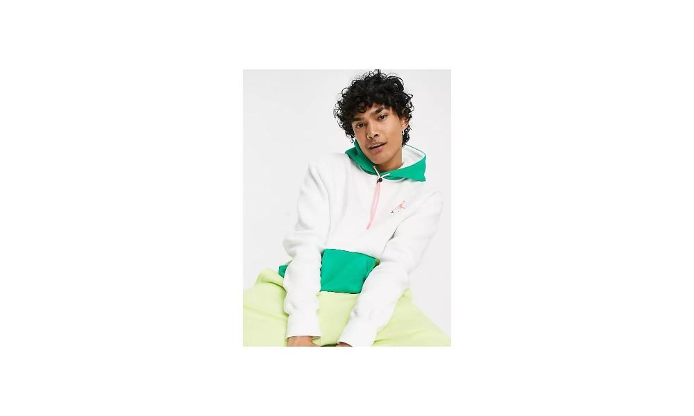 Sudadera con capucha en blanco Jordan Jumpman